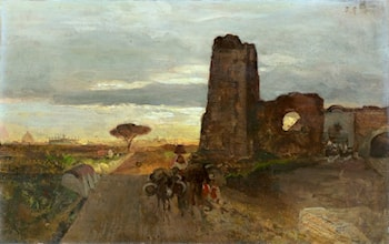 A Well on the Appian Way by Oswald Achenbach