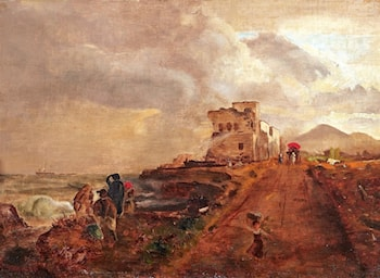Landscape in the South of Naples by Oswald Achenbach