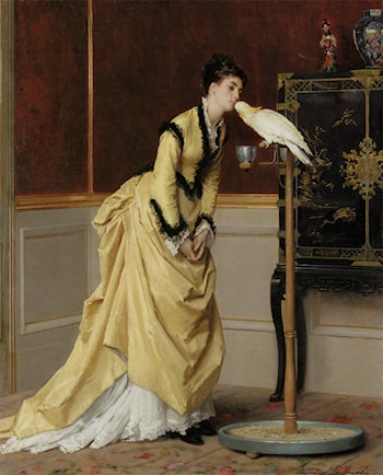 The Kiss by Gustave Leonhard de Jonghe