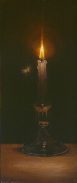 Candle and Moth by Virgil Elliott