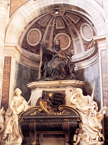 Tomb of Pope Urban VIII by Gian Lorenzo Bernini