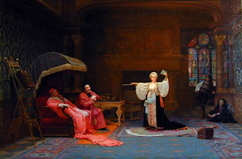 The Fortune Teller by Jehan Georges Vibert