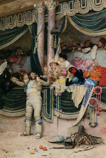 The Bullfighter's Adoring Crowd by Jehan Georges Vibert