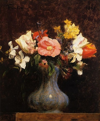 Flowers, Camelias and Tulips by Henri Fantin-Latour