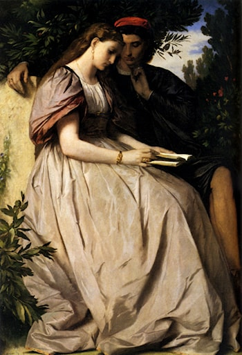 Paolo And Francesca by Anselm Friedrich Feuerbach