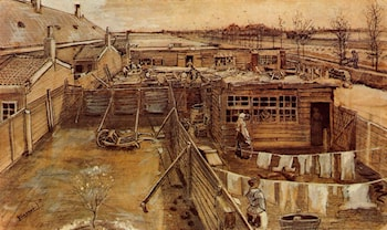 Carpenter's Workshop, Seen from the Artist's Studio by Vincent van Gogh