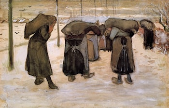 Woman Miners Carrying Coal by Vincent van Gogh