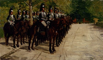 The Mounted Guards by Luigi Gioli