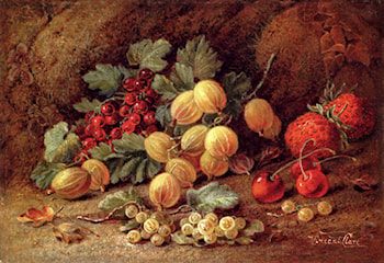 Strawberries, Cherries, Gooseberries And Red And White Currants by Vincent Clare
