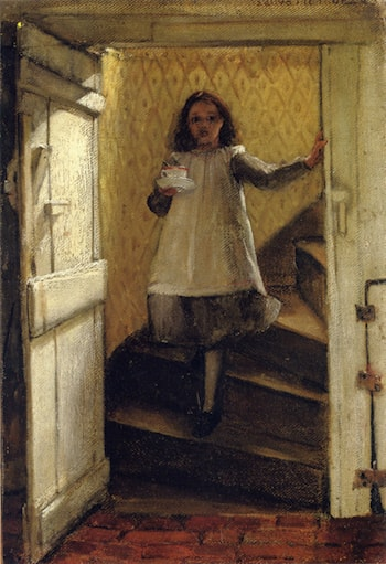 Girl on Stairs by Laura Theresa Alma-Tadema