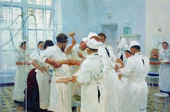 The Surgeon Evgueni Vasilievich Pavlov in the Operating Theater by Il'ya Repin