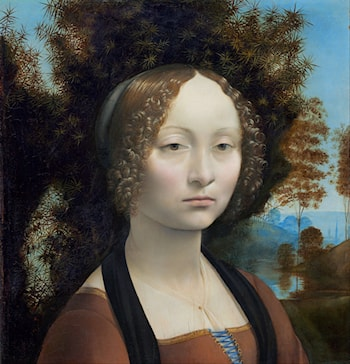 Portrait of Ginevra Benci by Leonardo da Vinci