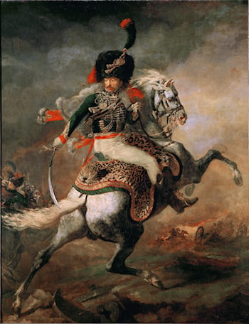 An Officer of the Imperial Horse Guards Charging by Theodore Gericault