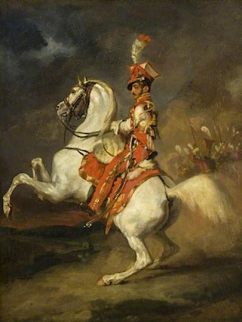 The Trumpeter of the Lancers of the Guard by Theodore Gericault