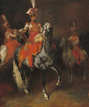 Mounted Trumpeters of Napoleon's Imperial Guard by Theodore Gericault