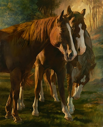 Horse Whispers by Julie Bell