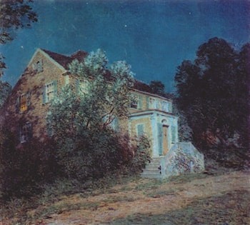 White Lilacs by Willard Leroy Metcalf