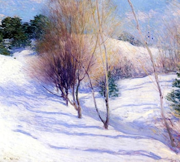 Winter in New Hampshire by Willard Leroy Metcalf