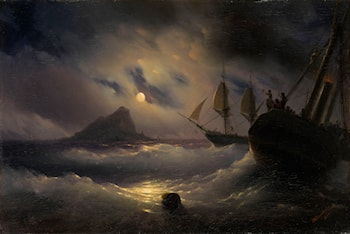Gibraltar at Night by Ivan Constantinovich Ayvazovsky