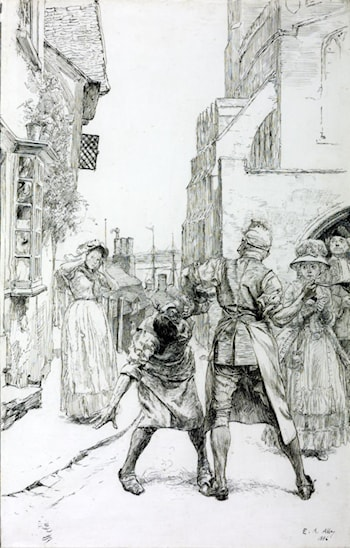 Illustration to 'Sally in our Alley' by Edwin Austin Abbey
