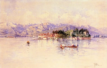 Boating on Lago Maggiore, Isola Bella beyond by Paolo Sala