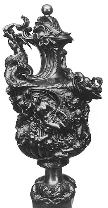 Ewer with Amphitrite and a Nereid by Massimiliano Soldani Benzi