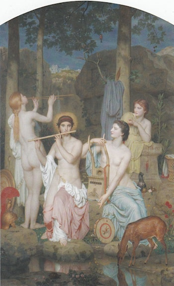 Minerva and the Three Graces by Charles Gleyre