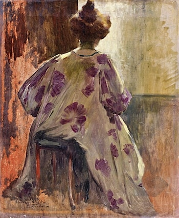 Stylish Woman from Behind by Louis Abel-Truchet