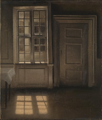Interior, Sunlight on the Floor by Vilhelm Hammershoi