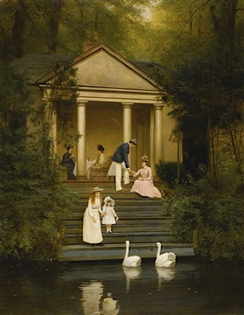 Feeding the Swans by Edith Hayllar