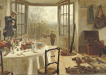The Sportsman's Luncheon by Edith Hayllar