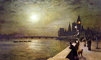 Reflection on the Thames by John Atkinson Grimshaw