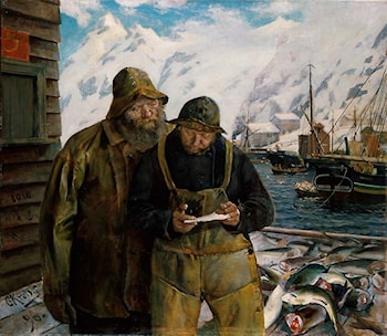 Letter from Home by Christian Krohg