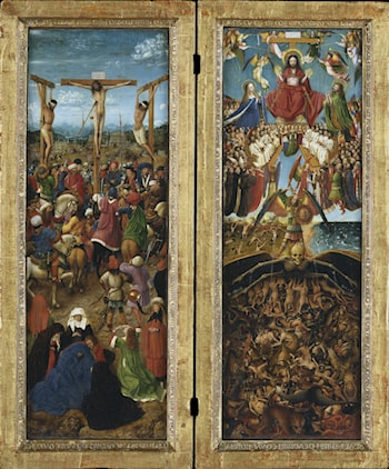 The Crucifixion; The Last Judgment by Jan van Eyck