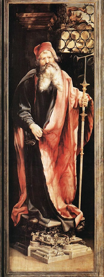 St Anthony the Hermit by Matthias Grunewald