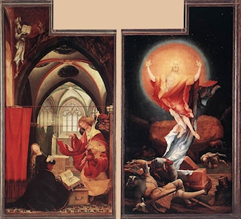 Annunciation and Resurrection by Matthias Grunewald