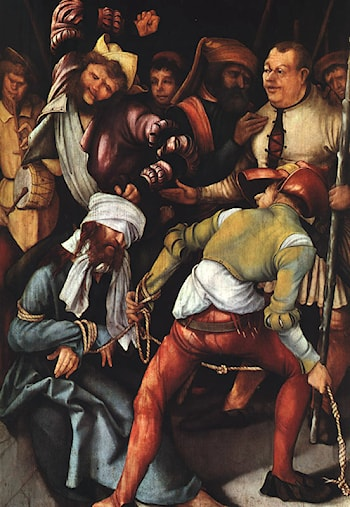 The mocking of Christ by Matthias Grunewald