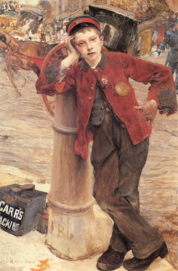 The London Bootblack by Jules Bastien-Lepage