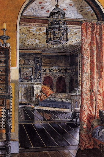 The Drawing Room at Townshend House by Anna Alma-Tadema