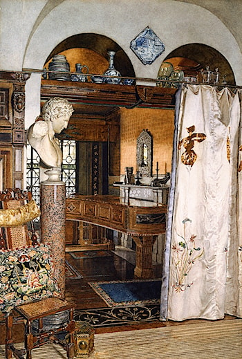 Interior of the Gold Room, Townshend House by Anna Alma-Tadema