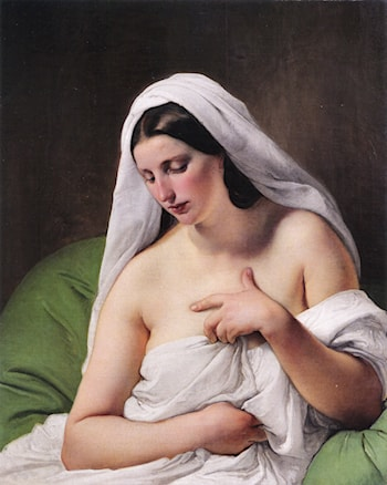 Odalisque by Francesco Hayez