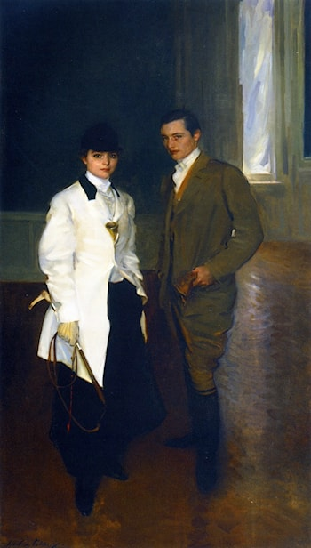 Charles Sumner Bird and His Sister Edith Bird Bass by Cecilia Beaux