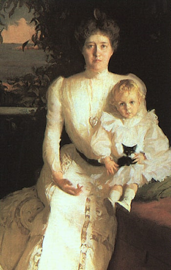 Mrs. Benjamin Thaw and her Son by Frank Weston Benson