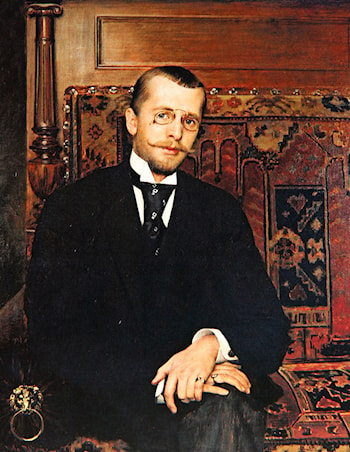 Portrait of Dr. Stjepan Miletic by Vlaho Bukovac
