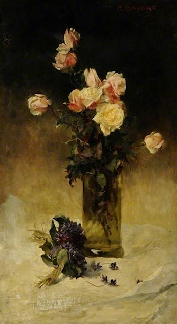 Roses in a Vase by Alice Mary Havers