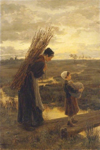 They Homeward Wend Their Weary Way by Alice Mary Havers