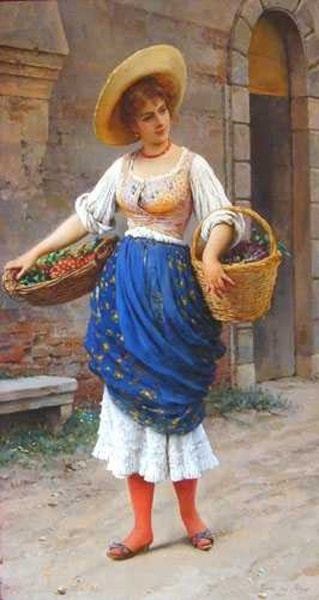 The Fruit Seller by Eugene de Blaas