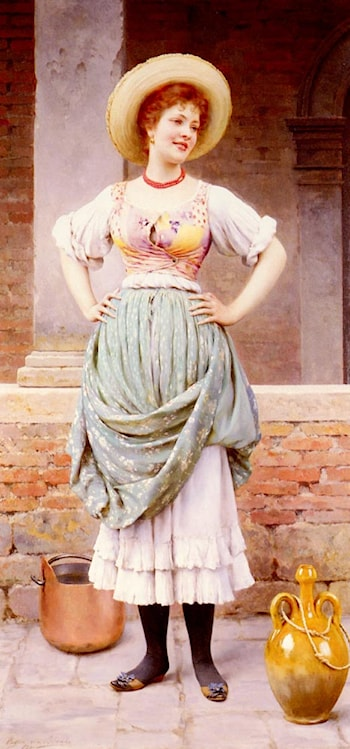 An Affectionate Glance by Eugene de Blaas