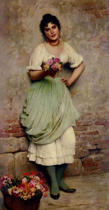 The Flower Seller by Eugene de Blaas