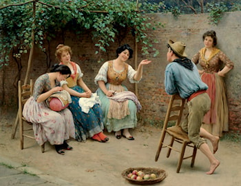 The Conversation by Eugene de Blaas